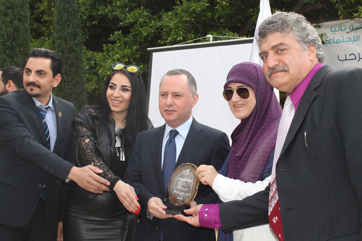 Talia Charity held an art exhibition